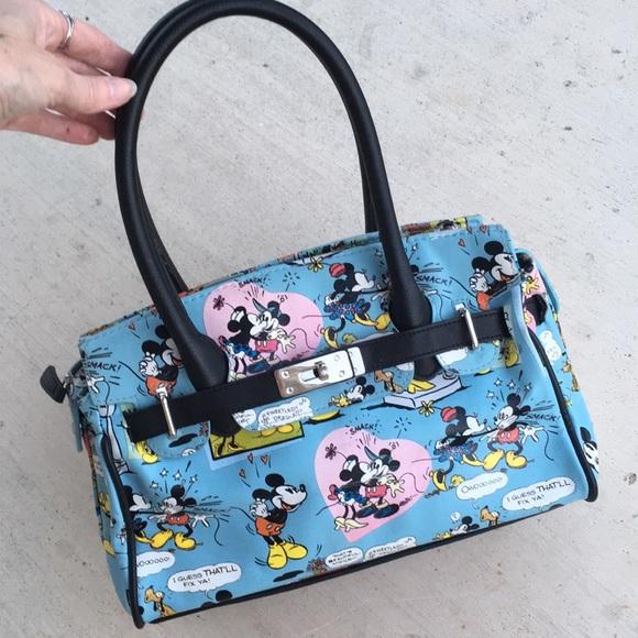 8b81e3e771ced5 Disney Handbags - Mickey Minnie Mouse Disney Comics Purse Rare